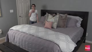 How to make a bed with Elissa the Mom | Rare Life - Video