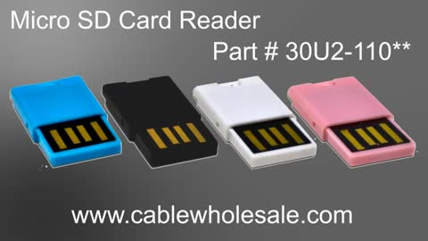 CableWholesale Product Showcase: Micro SD Card Reader