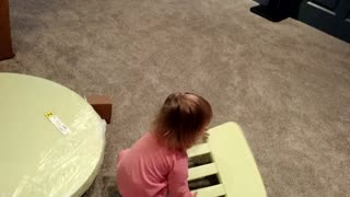 Toddler Unboxes Ikea Furniture - Video