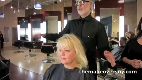 MAKEOVER: SUPER fine, thin, straight hair? What to do! By Christopher Hopkins, The Makeover Guy