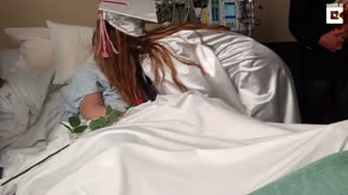 Daughter Graduates In Hospital For Dying Mother - Video