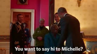 106 year-old woman dances with the Obamas - Video
