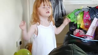 Autistic little girl loves bubbles so do her bulldogs