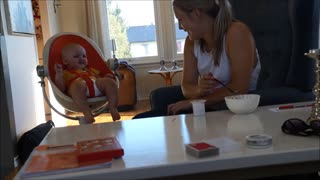 Baby scared by mom - Video