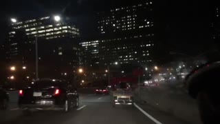 Moron on Pedicab on NYC Highway! - Video