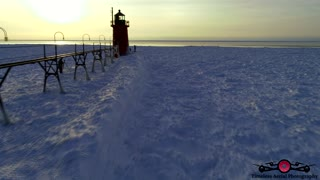 Must See Winter Lighthouse Tour & Music Video 4K Drone Footage Frozen In Time Part 2 of 3