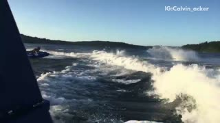 Water ski front flip wipeout - Video