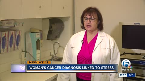 Woman's cancer diagnosis linked to stress
