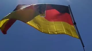 flying the german flag