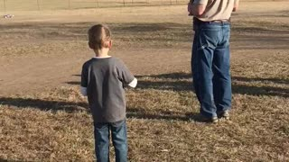 Kid Takes Out Dad's Legs With Remote Control Car
