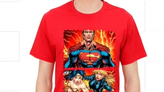 Superman Justice League Printed Cotton navy Colour T Shirts - Video