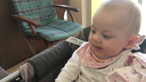 "Baby accidently performs the ""spit and slurp"""