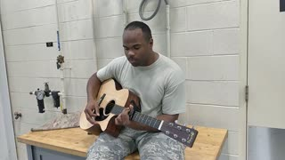 Trooper Gives Solo Performance On His Last Day In Air Force