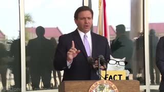 Ron deSantis, Governor of Florida, the corporate media is lying