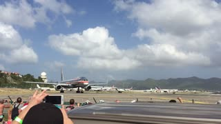 Planes taking off from St Martin