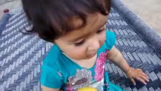 Very Very Very Cute Baby Fighting for Apple  - Video