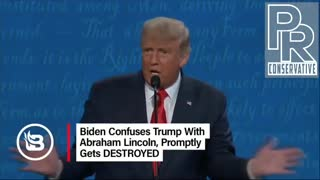 Biden thought Trump was Abraham Lincoln. 😂