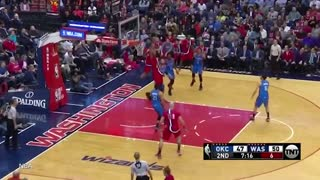 John Wall CLOWNS Russell Westbrook and Thunder with Between-the-Legs Dime & Blowout Win - Video