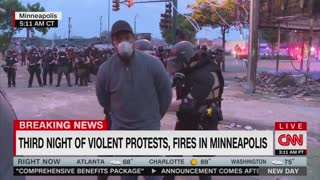 CNN Reporter Put In Handcuffs During LIVE Report In Minneapolis