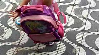 Little Girl Tried To Sneak Her Puppy To School - Video