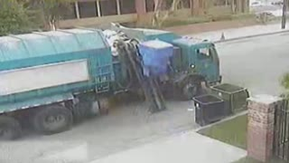 Hilarious Garbage Truck Has A Bone To Pick With Dumpsters - Video