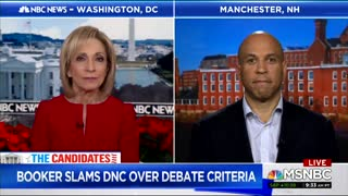 Cory Booker complains about DNC debate rules