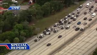 Hollywood Florida Police Chase on I-95... PIT Move Spins Cruiser Around...
