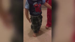 A Cute Boy Tried To Dress Himself For The First Time - Video