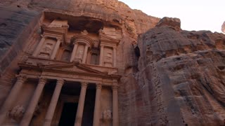 The petra archaeological site in jordan