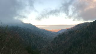 Clouds Rolling in Over the Great Smokey Mountains