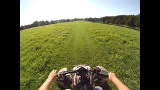 Funny atv wheelie fail - Video