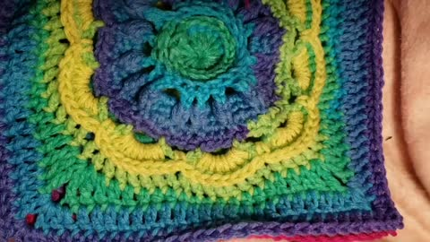 Sewing granny squares together