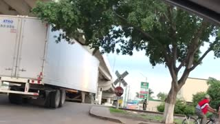 Train and Semi-Truck Collide - Video
