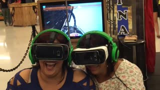Mom's First Virtual Reality Roller Coaster - Video