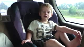Little Boy Is Terrified Of Flowers - Video