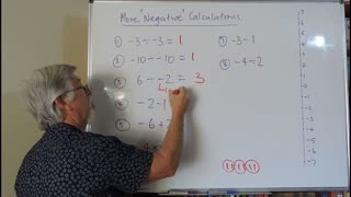 Math Negatives 05 More Calculations also called Directed Numbers Mostly for Years/Grade 7, 8 and 9