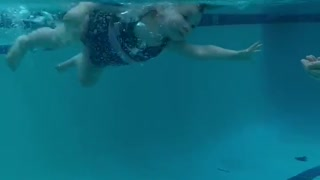 One-Year-old Independent Swimmer