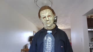 Micheal Myers Bottle cap challenge!