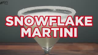 How To Make A Snowflake Martini - Full Recipe - Video