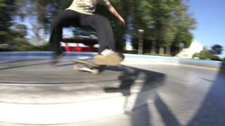 Collab copyright protection - young guy skatepark rail fail - Video