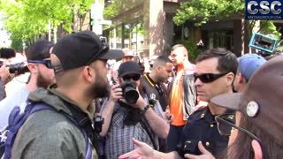 Seattle Police Tell Proud Boys And Patriot Prayer To Behave At #MarchAgainstSharia Event - Video
