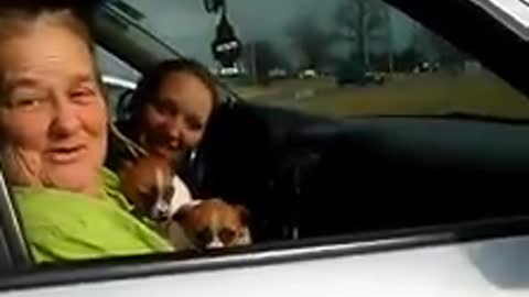 Little girl very emotional after new puppy surprise