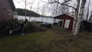 Prank Takes Unexpected Turn After Car Drives Into Lake - Video