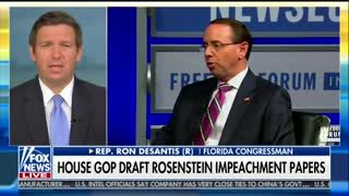 Republican Rep. Ron DeSantis Calls For Rod Rosenstein To Recuse Himself, Threatens Impeachment - Video