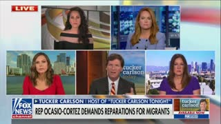 Tucker Carlson Blasts AOC Over Illegal Immigration Stance