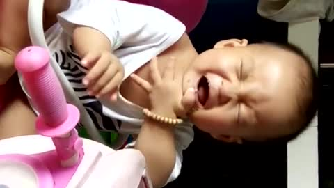 When the baby laugh