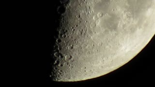 Spectacular view of the surface of the moon