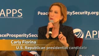 Fiorina talks China as President Xi Jinping arrives in U.S. - Video