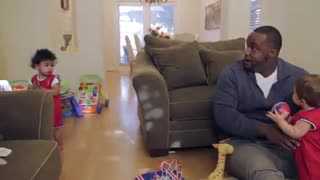 Glen 'Big Baby' Davis Babysits Babies - Video
