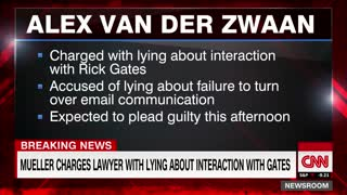 Mueller charges lawyer with lying about interaction with Rick Gates - Video